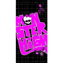 CTI Osuška Monster High Black Velvet 75x150 cm