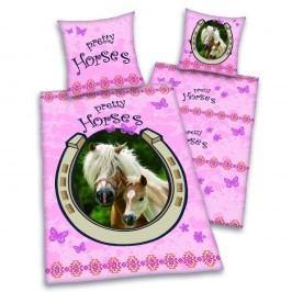 Herding Herding obliečky Pretty horses - ružové koníky 140x200,70x90