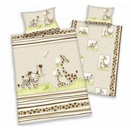 Herding Herding obliečky pre bábätká zebra&žirafa 135x100,40x60
