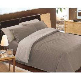 Gipetex Natural Dream Talianske obliečky 100% bavlna Doubleface svetlo/tmavo béžová - 140x200cm / 70x90cm