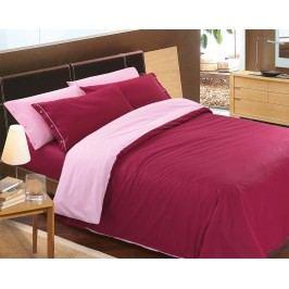 Gipetex Natural Dream Talianske obliečky 100% bavlna Doubleface vínovo-ružová - 140x200cm / 70x90cm