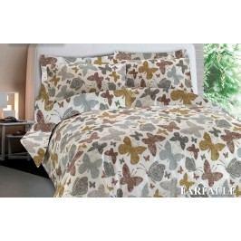 Gipetex Natural Dream Talianske obliečky 100% bavlna Farfale béžová - 140x200cm / 70x90cm