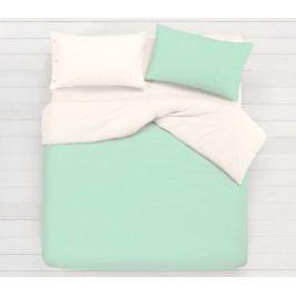 Gipetex Natural Dream Talianske obliečky 100% bavlna LUX Doubleface mätová/biela - 140x200cm / 70x90cm