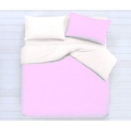 Gipetex Natural Dream Talianske obliečky 100% bavlna LUX Doubleface ružovo-biele - 140x200cm / 70x90cm