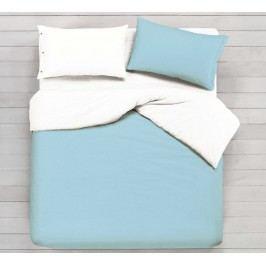 Gipetex Natural Dream Talianske obliečky 100% bavlna LUX Doubleface sv.modrá-biela - 140x200cm / 70x90cm