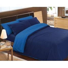 Gipetex Natural Dream Talianske obliečky 100% bavlna LUX Doubleface svetlo/tmavo modrá - 140x200cm / 70x90cm