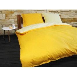 Gipetex Natural Dream Talianske obliečky 100% bavlna LUX Doubleface svetlo/tmavo žltá - 140x200cm / 70x90cm