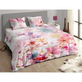 Descanso Luxusné saténové obliečky DESCANSO 9257 Juliette 3D kvety - 200x200-220 / 60x70 cm