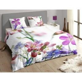 Descanso Luxusné saténové obliečky DESCANSO 9258 Feline 3D kvety - 200x200-220 / 60x70 cm