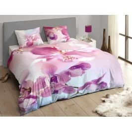 Descanso Luxusné saténové obliečky DESCANSO 9260 Olivia 3D kvety - 140x200-220 / 60x70 cm