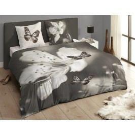 Descanso Luxusné saténové obliečky DESCANSO 9269 Rythm 3D motýľ - 140x200-220 / 60x70 cm