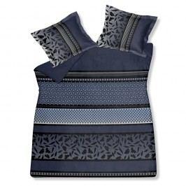 Luxusné saténové obliečky VANDYCK Romeo faded denim modrá - 140x200-220 / 60x70 cm