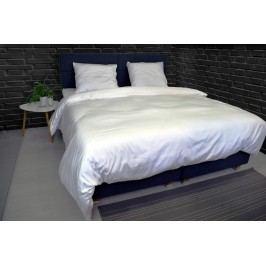 Luxusné saténové obliečky VANDYCK Purity stripe biela - 200x200-220 / 60x70 cm