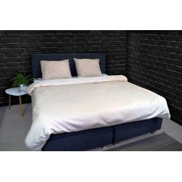 Luxusné saténové obliečky VANDYCK Purity stripe stone - 140x200-220 / 60x70 cm