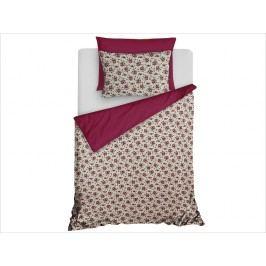 Homeville Obliečky 100% bavlna Romance fialová s dvomi obliečkami na vankúš - 140x200 / 50x70 + 70x90