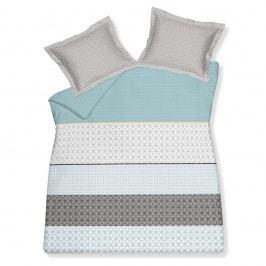 Luxusné saténové obliečky VANDYCK Crossover Sea Green - 240x200-220 / 60x70 cm