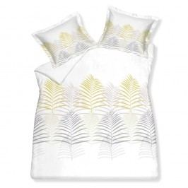 Luxusné saténové obliečky VANDYCK Flaire Gold - 140x200-220 / 60x70 cm