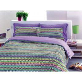 Gipetex Natural Dream Talianske obliečky 100% bavlna Baia fialová 140x200 cm + 70x90 cm