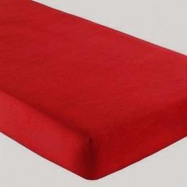 Gipetex Natural Dream Talianska plachta s gumičkou 100% bavlna červená v.25cm - 90x200 cm