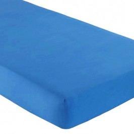 Gipetex Natural Dream Talianska plachta s gumičkou 100% bavlna stredne modrá v.25cm - 90x200 cm