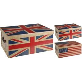 Home collection Úložné krabice Vlajky 51x37x24cm - Britská vlajka