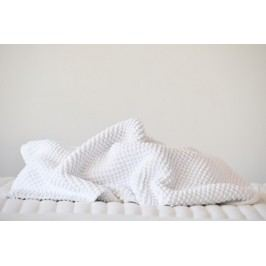 Kúpeľňová predložka SCALA Chenille white biela - 60x60 cm