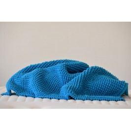 Kúpeľňová predložka SCALA Chenille ocean blue modrá - 60x60 cm