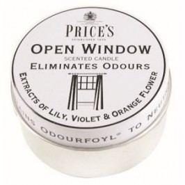 Price´s FRESH AIR vonné sviečky v plechu Otvorené okno 123g 3ks