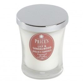 Price´s SIGNATURE vonná sviečka v skle Ľalie&santalové drevo stredná 425g