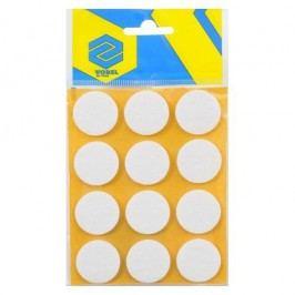 Podložky samolepiace pod nábytok biele 28 mm 12 ks