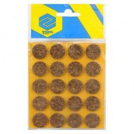 Podložky samolepiace pod nábytok hnedé 20 mm 20 ks
