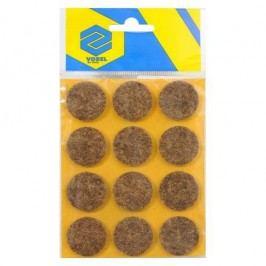 Podložky samolepiace pod nábytok hnedé 28 mm 12 ks