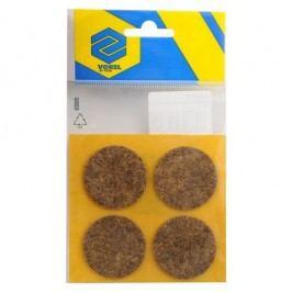Podložky samolepiace pod nábytok hnedé 40 mm 4 ks