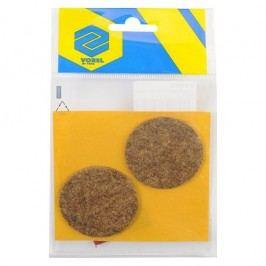 Podložky samolepiace pod nábytok hnedé 50 mm 2 ks