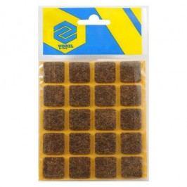 Podložky samolepiace pod nábytok hnedé 20 x 20 mm 20ks