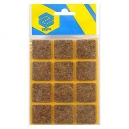 Podložky samolepiace pod nábytok hnedé 28 x 28 mm 12 ks