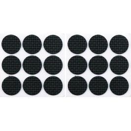 Podložky samolepiace pod nábytok čierne 25 mm 18 ks