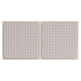 Podložky samolepiace pod nábytok biele 85 x 85 mm 2 ks