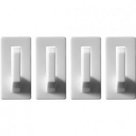 Háčiky nástenné samolepiace nosnosť 0.8 kg 4 ks