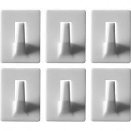 Háčiky nástenné samolepiace nosnosť 0.4 kg 6 ks