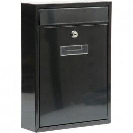 Schránka poštová čierna 300 x 260 x 80 mm