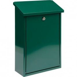 Schránka poštová zelená 400 x 250 x 100 mm