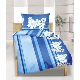 Krepové obliečky Modrý kvet, 140 x 200 cm, 70 x 90 cm