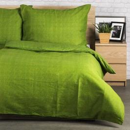 Bavlněné obliečky Guru UNI zelená, 140 x 200 cm, 70 x 90 cm