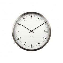 Karlsson KA5612WH Designové nástenné hodiny, 44 cm