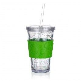 Téglik s chladiacou vložkou Double 450 ml, zelená