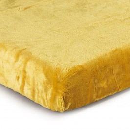 Prestieradlo Mikroplyš žltá, 180 x 200 cm