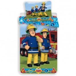 Jerry Fabrics Detské bavlnené obliečky Požiarnik Sam 009, 140 x 200 cm, 70 x 90 cm