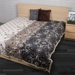 Night in Colours Prehoz na posteľ Alberica sivá 220 x 200, 240 x 200 cm