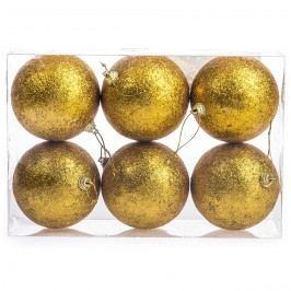 HTH Vianočné gule 6 ks zlatá